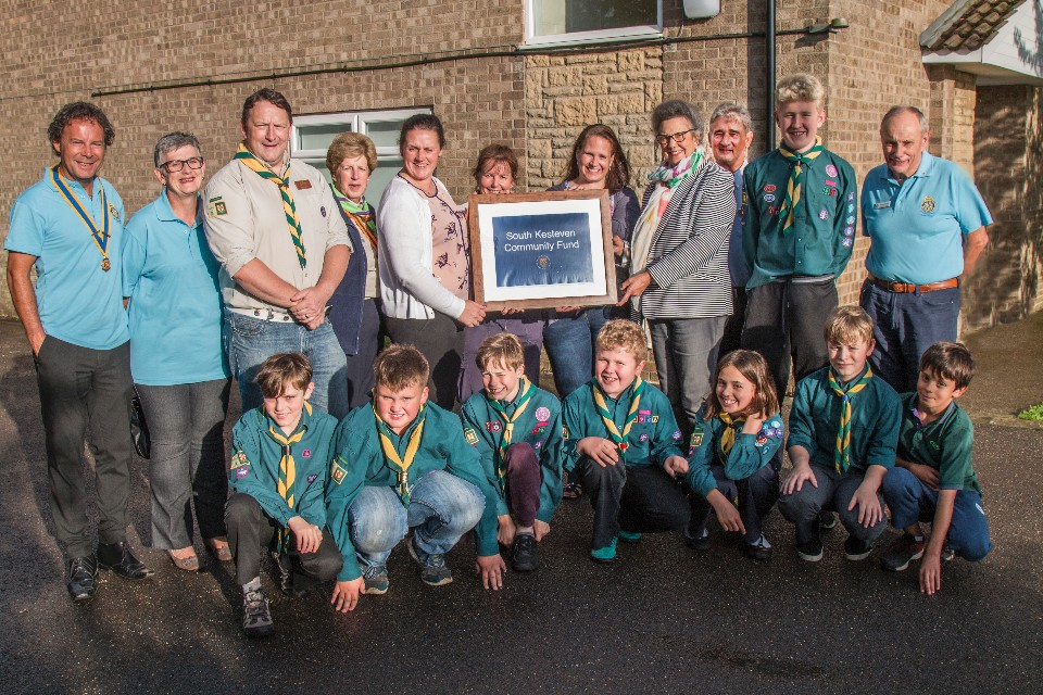 Scouts group reaping rewards of applying to South Kesteven Fund