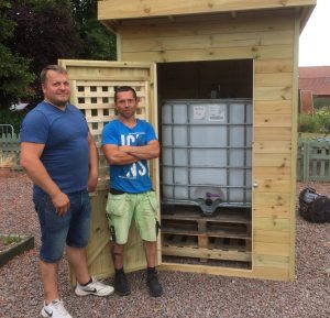 Water harvesting now possible at Boston community garden, Lincolnshire