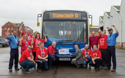 Stagecoach team's 100km walk raises £8,470 for British Heart Foundation in honour of colleague