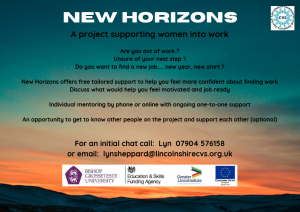 New Horizons Project – Support now available for all women looking for work