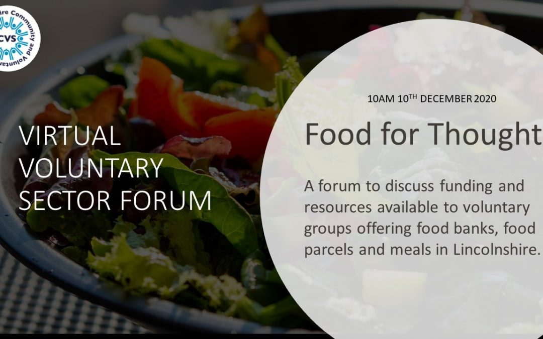 Food for Thought: A Virtual Voluntary Sector Forum (Lincolnshire)
